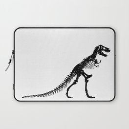 Tyrannosaurus Dinosaur skeleton Black and White Laptop Sleeve