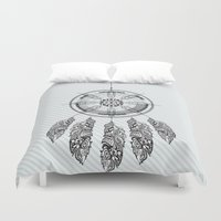 dream catcher Duvet Covers featuring Dream catcher by Daniac Design