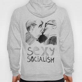 "Artwork ""Sexy socialism"" (Brezhnev and Honecker) Hoody"