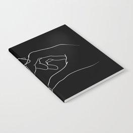 line art heart hands Notebook