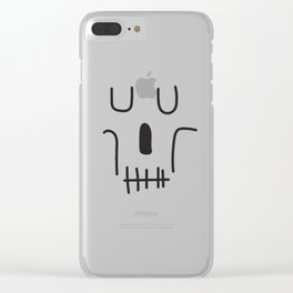 Line Art Skull Clear iPhone Case