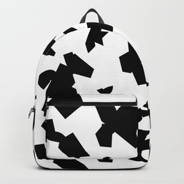 Folded black Backpack