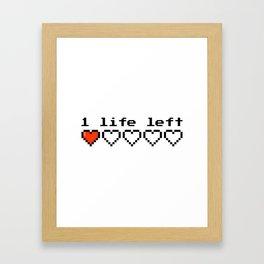 1 live left Framed Art Print
