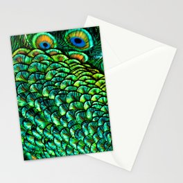 Fan Feathers Stationery Cards