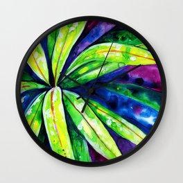 Croton - Tropical Leaves Wall Clock