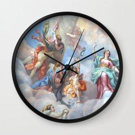 Karlskirche fresco Wall Clock