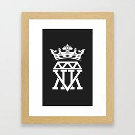 King Krown (BLACK) Framed Art Print