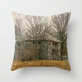 Interesting Barn Structure Throw Pillow