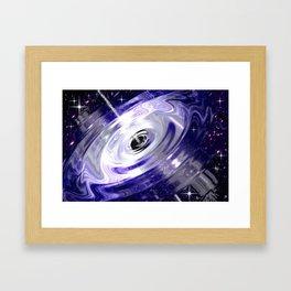Raumzeit - Gravitations - Schockwelle. Framed Art Print