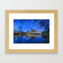 Austin, Texas skyline Framed Art Print