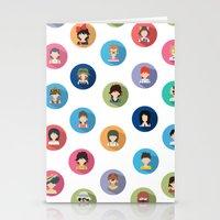 studio ghibli Stationery Cards featuring Studio Ghibli Flat by TubaTOPAL