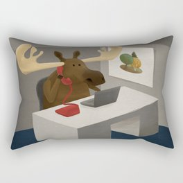Maurice, the moose who wanted to work in an office Rectangular Pillow