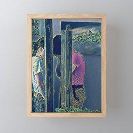 Can You See Me? Framed Mini Art Print