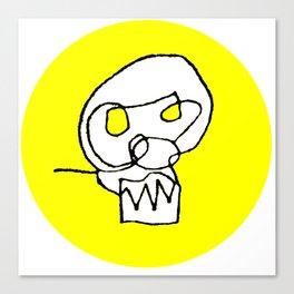 the Shaw Skull logo yellow Canvas Print
