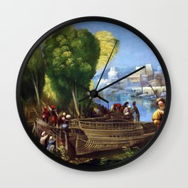 Dosso Dossi Aeneas and Achates on the Libyan Coast Wall Clock