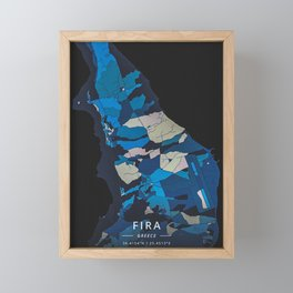 Fira Greece Framed Mini Art Print