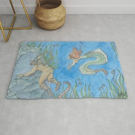 The Aquanat and The Water Nymph Rug