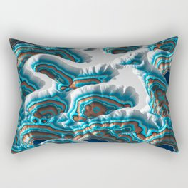 Colorful Canyon Landscape Rectangular Pillow