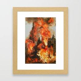 Fire Study #1 Framed Art Print