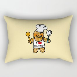Gingerbread man bakery cookie baker Rectangular Pillow
