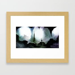 Cave Lake Framed Art Print