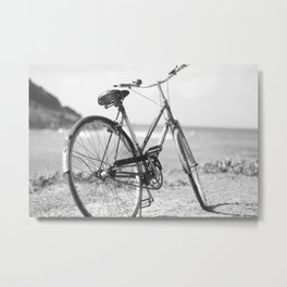 Beached Bike Metal Print