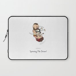 Spinning Pile Driver Laptop Sleeve
