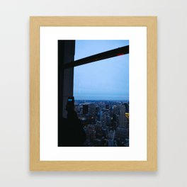 Turn On the City Lights Framed Art Print