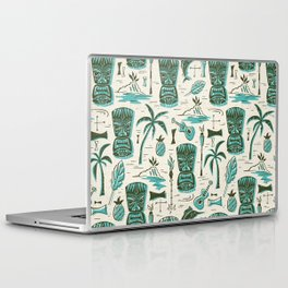 Tropical Tiki - Cream & Aqua Laptop & iPad Skin