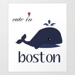 Boston Baby Bodysuit Boston Cute in Boston Baby Bodysuit or Tee boston Art Print