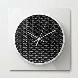 tick tock ~ black Metal Print