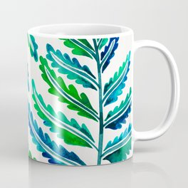 Fern Leaf – Blue & Green Palette Coffee Mug