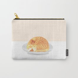 Kitty on plate Carry-All Pouch