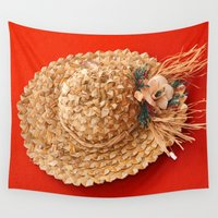 hat Wall Tapestries featuring Hat  by Gaspar Avila