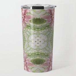 Pink Chrysanthemums Kaleidoscope Art 8 Travel Mug