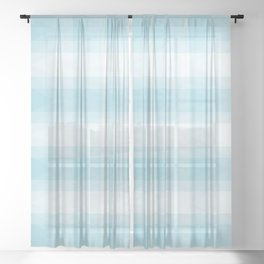 Blue triangles with Scottish style Sheer Curtain