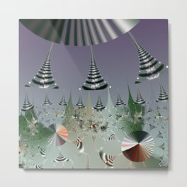 An abstract Christmas tree dream Metal Print