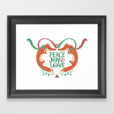 Peace, Joy, Love Framed Art Print