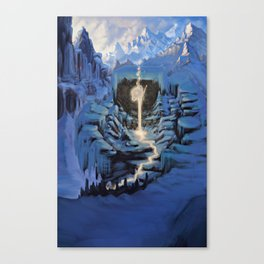 Temple of Snow Canvas Print