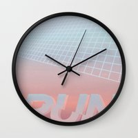 run Wall Clocks featuring RUN by Ricca Design Co.