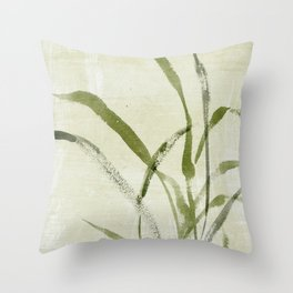 beach weeds Throw Pillow
