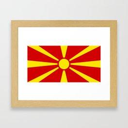 Macedonian national flag Framed Art Print
