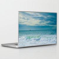 portugal Laptop & iPad Skins featuring Carcavelos, Portugal, sea, surf by Sébastien BOUVIER