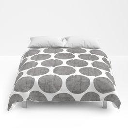gray polka dots Comforters