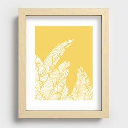 Banana Leaves on Yellow Recessed Framed Print