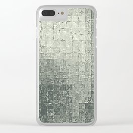 monochrome circles Clear iPhone Case
