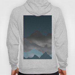 Blue Mountains and Mist Digital Illustration - Graphic Design Hoody