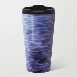 Offshore We Go Purple Glitch Pattern Travel Mug