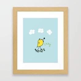 Chirp and Whistle Lucky Bird Framed Art Print
