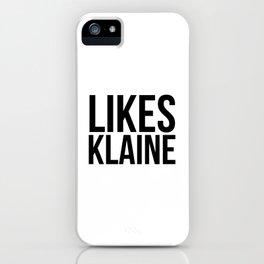 Likes Klaine iPhone Case